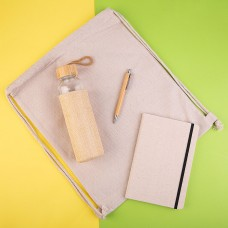 Набор подарочный CANVAS: блокнот, бутылка для воды, ручка шариковая, рюкзак
