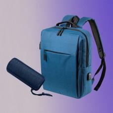 Набор подарочный CITYSOUND: колонка беспроводная, рюкзак, синий