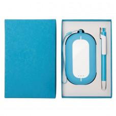 Набор SEASHELL-2: универсальное зарядное устройство (6000 mAh) и ручка в подарочной коробке