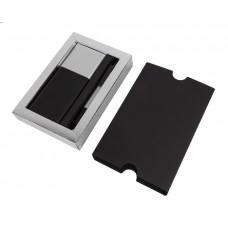 Набор подарочный BLACK GUN; универсальное зарядное устройство(10000мАh) и ручка; серебристый