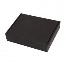Коробка подарочная, внешний размер 18,5х14,5х3,8см, картон, самосборная, черная