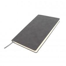 Бизнес-блокнот ALFI, A5, серый, мягкая обложка, в линейку