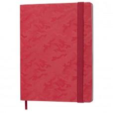 Бизнес-блокнот Tabby Biggy, гибкая обложка, в клетку, красный