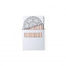 Набор цветных карандашей BOLTEX с раскрасками