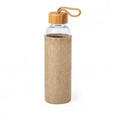 Бутылка для воды KASFOL, стекло, бамбук, 500 мл