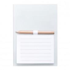 Блокнот с магнитом YAKARI, 40 листов, карандаш в комплекте, белый, картон