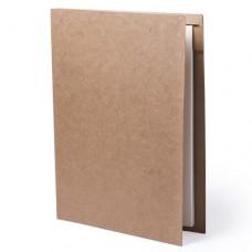 Папка BLOGUER A4 с бумажным блоком и ручкой, рециклированый картон