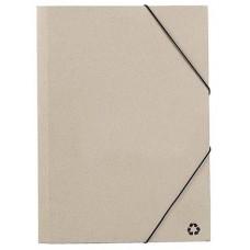 Папка ECOSUM A4, рециклированный картон, бежевый